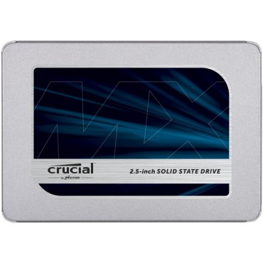 SSD | CRUCIAL | MX500 | 2TB | SATA 3.0 | TLC | Write speed 510 MBytes/sec | Read speed 560 MBytes/sec | 2,5"