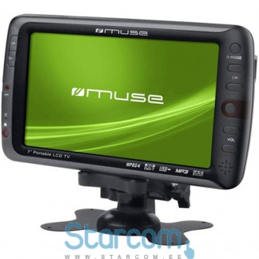 "Televiisor autosse Muse M-115TV 7"" (18 cm), HD LED, DVB-T, Black"