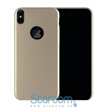 Tagakaas Apple iPhone X cover Classic , Kuldne