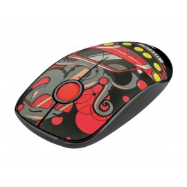 MOUSE USB OPTICAL WRL SKETCH/SILENT RED 23336 TRUST