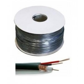 CABLE CCTV RG59+2x0.5MM 100M/BLACK RG59-2X05-100M GENWAY