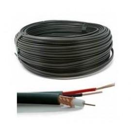 CABLE CCTV RG59+2X0.5MM 50M/BLACK RG59-2X05-50M GENWAY