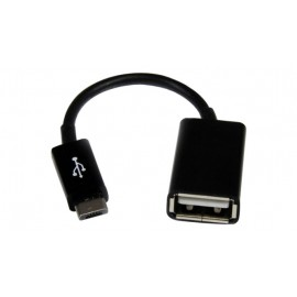 Adapter from MicroUSB to USB (OTG) black