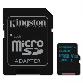 MEMORY MICRO SDHC 64GB UHS-I/W/ADAPTER SDCG2/64GB KINGSTON