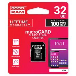 Memory card GOODRAM MicroSD 32Gb (class 10) + SD adapter
