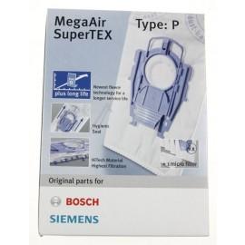 Tolmukotid Bosch ja Siemens tolmuimejatele, tüüp P BBZ41FP 4tk + filter