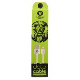 """USB cable """"Leslie"""" S110 """"Lightning"""" FastCharging white, 1.0m"""
