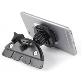 Universal car phone holder H01, CD player mounting, magnetic fixing