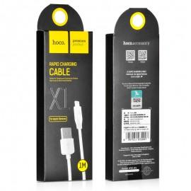 USB cable HOCO X1 lightning 2m white