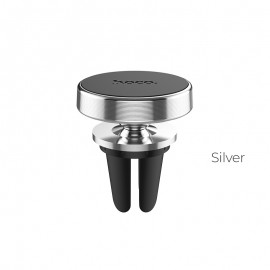 Universal car phone holder HOCO CA47 for using on ventilation grille, magnetic,silver