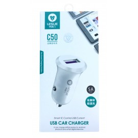 """Car charger """"Leslie"""" C55 with USB connector 5A white"""