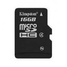 MEMORY MICRO SDHC 16GB CLASS4/SNGL PACK SDC4/16GBSP KINGSTON