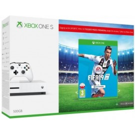CONSOLE XBOX ONE S 500GB BLACK/GAME FIFA19 MICROSOFT