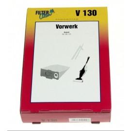 Tolmukotid  Filterclean V 130 Tolmuimejatele Vorwerk Kobold VK130 131  5tk komplektis