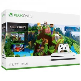 CONSOLE XBOX ONE S 1TB WHITE/GAME MINECRAFT MICROSOFT