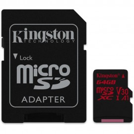 MEMORY MICRO SDXC 64GB UHS-I/W/ADAPTER SDCR/64GB KINGSTON