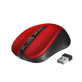 MOUSE USB OPTICAL WRL MYDO/SILENT RED 21871 TRUST