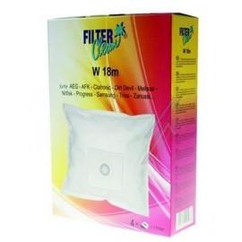 Tolmukotid Filterclean W 18m tolmuimejatele AEG, AFK,Clatronic, Dirt Devil, Melissa, Nilfisk, Progress... 4tk + filter
