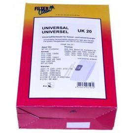 Tolmukotid Filterclean UK 20 tolmuimejatele KÄRCHER,  Thomas, Aqua Vac, Einhell 4tk