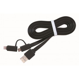 CABLE LIGHTNING +MICRO USB TO/AM 1M CC-USB2-AMLM2-1M GEMBIRD