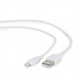 CABLE LIGHTNING TO USB2 1M/CC-USB2-AMLM-W-1M GEMBIRD