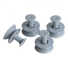 Whirlpool / Indesit , Bauknecht, IKEA nõudepesumasina ülemise korvi rattad 4tk