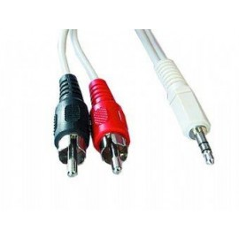 CABLE AUDIO 3.5MM-2PHONO 2.5M/CCA-458-2.5M GEMBIRD