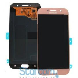 Puutetundlik klaas ja LCD ekraan SAMSUNG GALAXY A5 2017 (SM-A520), roosa