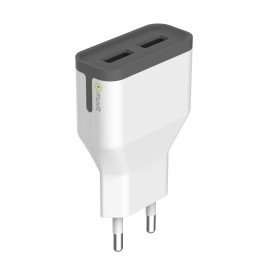 Travel charger 2USB 2.4A By Muvit White