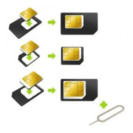Adapters Kit nano/microSIM/SIM by Muvit Black