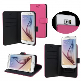 Universal Flip cover up to 4.5 by Muvit Pink