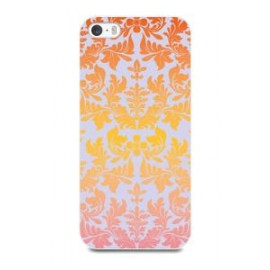 Apple iPhone 5/5S/SE cover Flowers by Muvit Orange