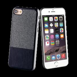 Apple iPhone 7 Glitter case by Muvit Black