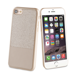 Apple iPhone 7 Glitter case by Muvit Gold