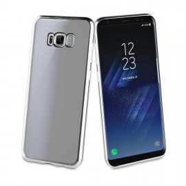 Samsung Galaxy S8+ cover Coque Blindg by Muvit Silver
