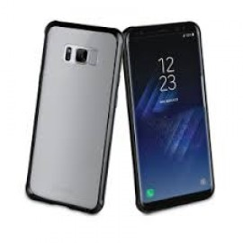Samsung Galaxy S8+ cover Crystal Bump By Muvit Black