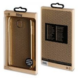 Samsung Galaxy A8 (2018) Life Bling Cover By Muvit Gold