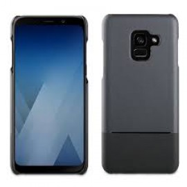 Samsung Galaxy A8 (2018) Skin Cover Double PU By Muvit Black