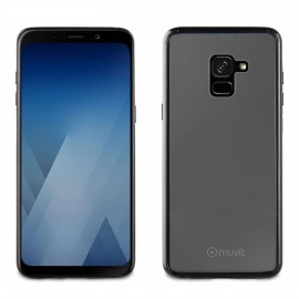 Samsung Galaxy A8 (2018) Crystal Bump Cover By Muvit Black