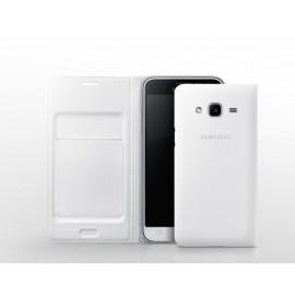 Samsung Galaxy J3(2016) Flip Wallet case WJ320PWE White