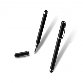 Stylus Pen + Ball Pen By Muvit Black