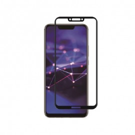 Huawei Mate 20 Lite Curved Tempered Glass Case Friendly By Muvit Black