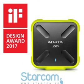 Väljune kõvakettas ADATA External SSD SD700 256 GB, USB 3.1, Black, Yellow