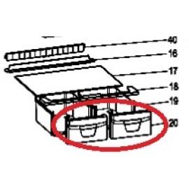 Külmiku juurviljasahtli esipaneel C00283886 Indesit  BIAA10PX ja teistele mudelitele 240X160MM