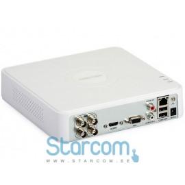 Registraator turvakaameratele Hikvision Turbo HD salvesti 4 kanalit DS-7104HQHI-F1/N
