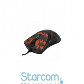 A4Tech XGame V-Track F7 wired, Black, Orange, Lazer gaming mouse USB
