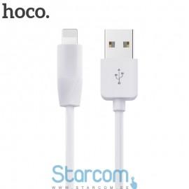 Usb data kaabel / Laadimis juhe Lightning iPhone 5/6/7/8 HOCO X1 1m , Valge