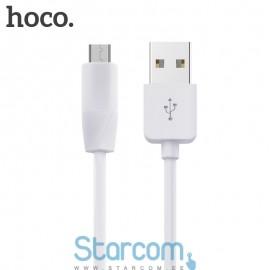 Usb data kaabel / Laadimis juhe Micro USB HOCO X1 1m , valge