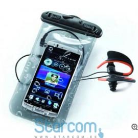 Veekindel kott - KSIX Bag And Headphones BXPACKW01 Universal, Waterproof, Polycarbonate (PC), Transparent, Black