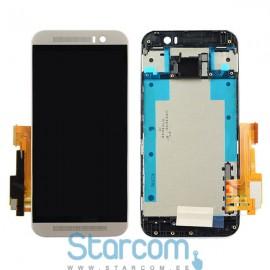 HTC One M9 puutetundlik klaas ja LCD ekraan hõbedane